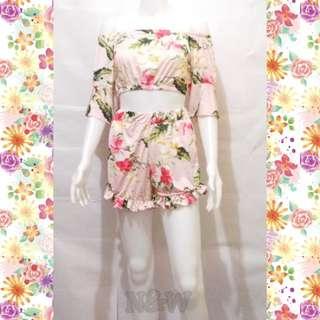 Floral Croptop Terno(UP Php299.00)