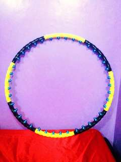 Weighted Hula Hoop with magnetic massage balls