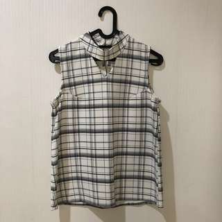 Checkered Choker Top