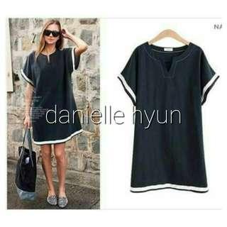 🐊Two tone sleeve and hemline dress