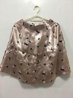 Pink high waist skirt