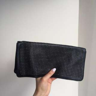 Kenneth Cole Black Leather Clutch