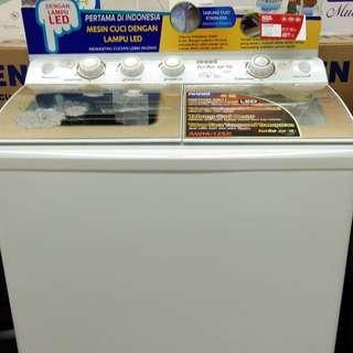 Kredit mesin cuci akari 2 pintu, promo dp 0%