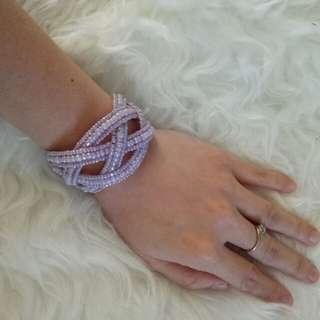 Gelang Anyaman Ungu - Purple Pastel Bracelets