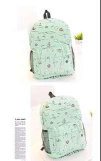 Mint Green Sailing Print Backpack