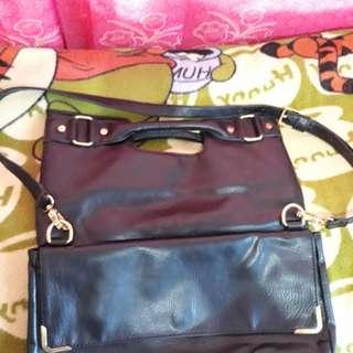 2-way leather sling bag