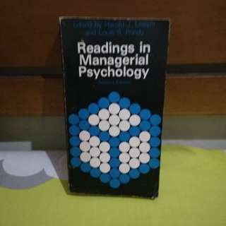 READING IN MANAGERIAL PSYCHOLOGY