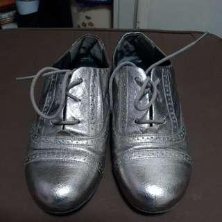 Nina Metallic Oxford Shoes