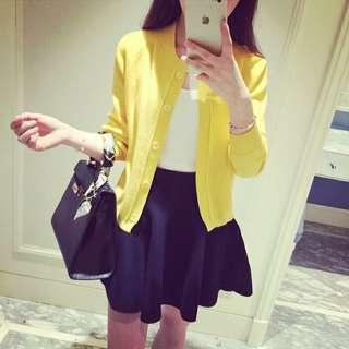 黃色短外套