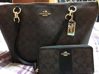 Coach bag and wallet bnew