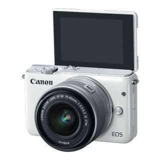 Canon EOS M10 Kit (EF-M 15-45mm IS STM). 3 Years Canon Marketing Malaysia Warranty. Free Extra Battery, Sandisk 16gb Card, Bag