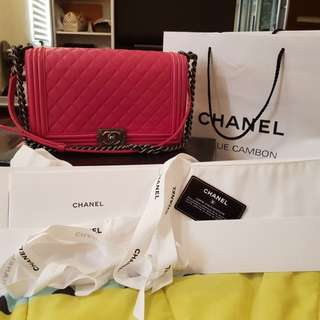 Authentic chanel le boy bag..