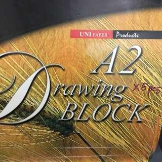 Drawing block paper A2/A3 set