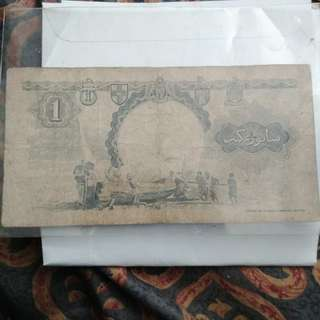 Old Singapore Malaya Note
