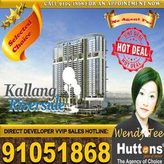 Freehold! Walk to Lavender MRT! Kallang Riverside (No agent fees)