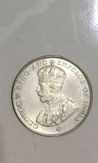Straits settlements 1920 50 cents