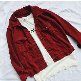 Marron jacket basic