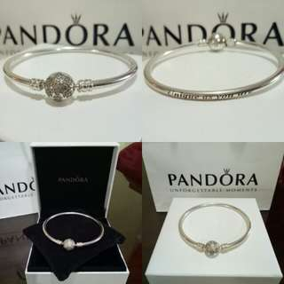 "PANDORA Limited Edition ""unique as you are"" Bangle 17cm"
