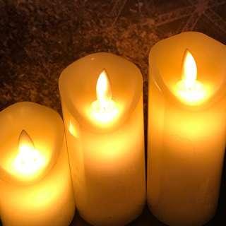 安全 超真 電子 蠟燭 ❤️ 乾電