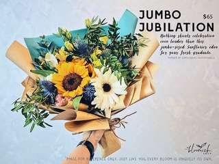 Graduation / Convocation Flower Bouquet - Jumbo Jubilation