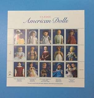 1996年美國郵票洋娃娃上品