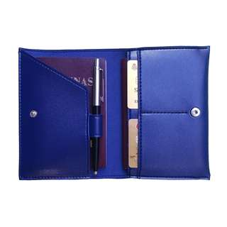 Personalized Passport Holder with Pen Loop