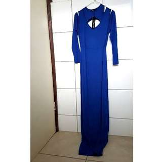 RRP$49.95 Brand New Cobalt Blue Detailed Layered Maxi Dress