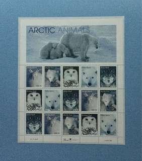 1998年美國郵票北極熊及動物