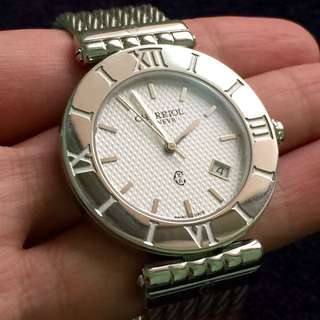 CHARRIOL Switzerland - Silver watch, classic cable ( Authentic )