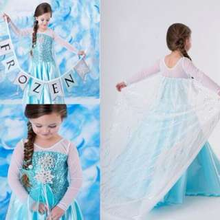 Princess Elsa Frozen Blue Dress