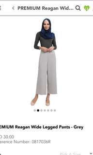 POPLOOK Premium Reagan Wide Legged Pants - Grey