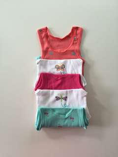 Baby girl Cotton Singlets