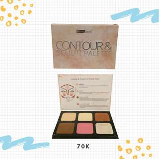 BEAUTY TREATS FACE COUNTOUR BLUSH AND HIGHLIGHT PALLATE