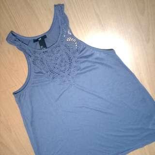 H&M Sleeveless gray shirt