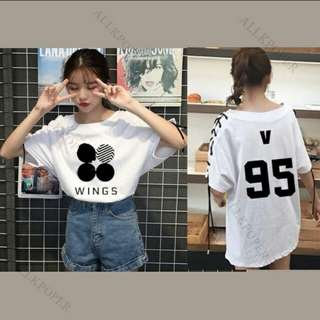 PO - K-Pop BTS Wings V 95 Oversized Shoelace T-shirt