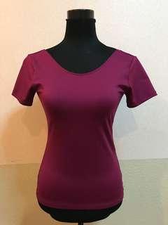 Purple Round Neck Top