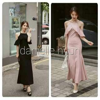🐊Ruffle sleeve long dress