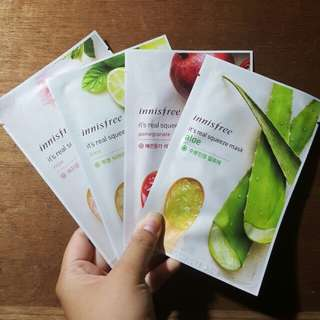 Innisfree Facial Mask 4 set