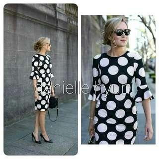 🐊Polka dots ruffle sleeve dress
