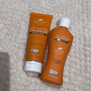 Sun tanning enhancer with carrot & henna (only oil was used once)