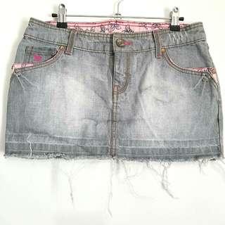 Mango Gray Washed Denim Skirt (Limited Edition)