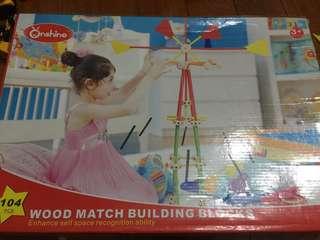 Wooden building STEM toy