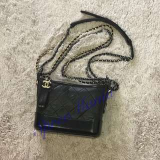 💯% Authentic BN Chanel Gabrielle Small Hobo Bag Black