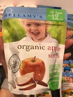 Bellamy's Organic baby fruit snack 有機健康兒童小食 蘋果片梨片