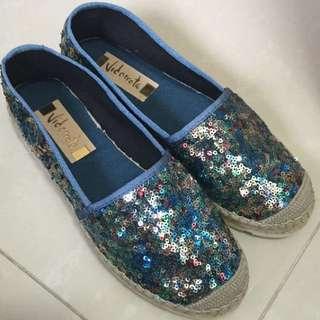 西班牙Vidorreta草編帆布鞋100%new!!購自IT