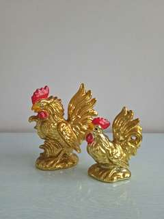Old Japan porcelain rooster height 12-15cm perfect condition 2pcs $30