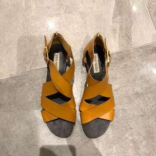 Steve Madden mustard yellow sandals