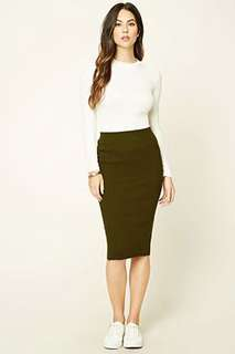 Forever 21 ribbed knit pencil skirt BNWT