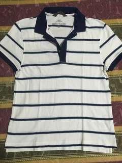 H&M striped polo mens small