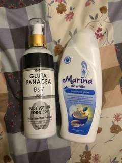 lotion gluta panacea & marina UV white